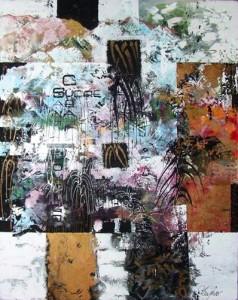 3668176 10 Carre plastique 005 2008 acryl et collage 48x