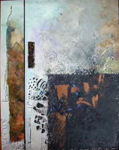 3668266 QuiaOtude 2006 crylique et collage 50x40